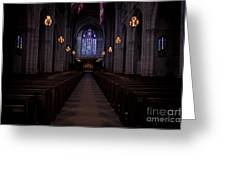 The Aisle Of Princeton Chapel Greeting Card