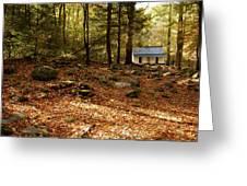 The Alfred Reagan Cabin Autumn Greeting Card