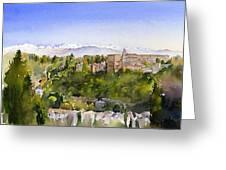 The Alhambra Granada Greeting Card