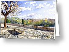 The Alhambra In Autumn Greeting Card