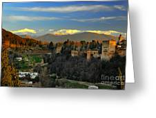The Alhambra Palace Granada Spain Greeting Card