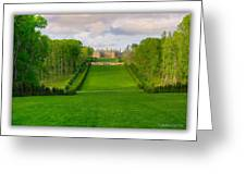 The Allee And The Castle Greeting Card