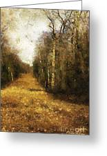The Allee At Dawn Greeting Card