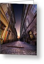 The Alley Of Cracov Greeting Card
