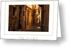 The Alley Poster Greeting Card