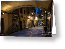 The Alley- In Beautiful Barcelona Greeting Card