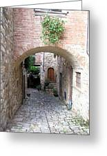 The Alleyway To Home Greeting Card