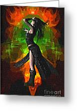 The Allure Of Night Fantasy Art Greeting Card