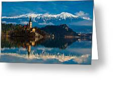 The Alps Bled Greeting Card