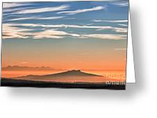 The Alps Sunset Over Fog Greeting Card