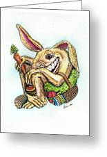 The Altered Easter Bunny Greeting Card
