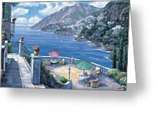 The Amalfi Coast Greeting Card by John Zaccheo