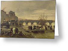 The Ambulance De La Presse At Joinville During The Siege Of Paris Oil On Canvas Greeting Card