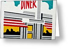 The American Diner  Greeting Card