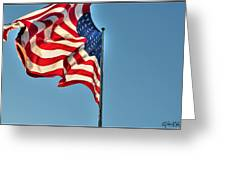 The American Flag No Retreat No Surrender  Greeting Card