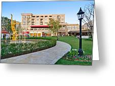 The Americana At Brand Outdoor Shopping Mall In California. Greeting Card