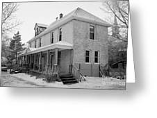 the ananda arthouse in the former st josephs rectory in Forget Saskatchewan Canada Greeting Card