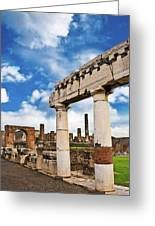 The Ancient Ruins Of Pompeii, Italy Greeting Card