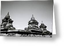 The Ancient Stupas Of Borobudur Greeting Card