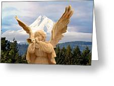 Sounds Of The Angel  Greeting Card