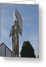 The Angel Of Bargoed 2 Greeting Card