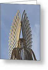 The Angel Of Bargoed 4 Greeting Card