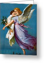 The Angel Of Peace Greeting Card by B T Babbitt