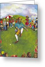The Angry Golfer  Greeting Card