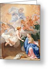 The Annunciation Greeting Card by Giovanni Odazzi
