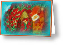 The Annunciation Greeting Card by Maryann  DAmico