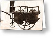 The Antique Farming Machine  Greeting Card