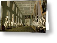 The Antiquities Gallery Of The Academy Of Fine Arts, 1836 Oil On Canvas Greeting Card