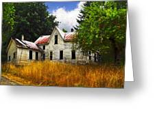The Apple Tree On The Hill Greeting Card