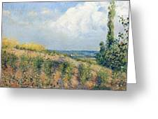 The Approaching Storm Greeting Card by Camille Pissarro