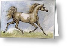 The Arabian Mare Running Greeting Card