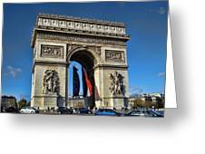 The Arc De Triomphe De Etoile  Greeting Card
