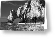 The Arch Cabo San Lucas In Black And White Greeting Card