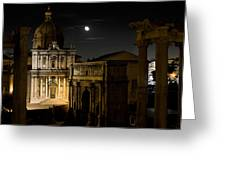 The Arch Of Septimius Severus Greeting Card