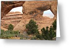 The Arches Of Double O Arch  Greeting Card