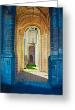 The Arches Of The Abbey At Jumieges Greeting Card
