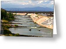 The Arkansas River And Pike's Peak Greeting Card