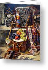 The Armenian Still-life With A Armenian Doll Greeting Card