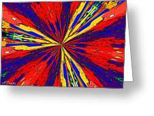 The Arrival Of Colours Greeting Card