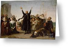 The Arrival Of The Pilgrim Fathers Greeting Card