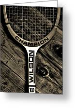 The Art Of Tennis 2 Greeting Card