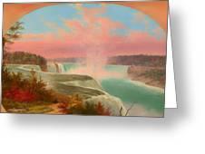 The Artist At Niagara Greeting Card