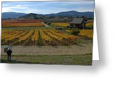 The Artist In The Vineyard Greeting Card