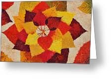 The Artistry Of Fall Klimt Homage Greeting Card