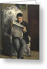 The Artists Father Reading L Evenement Greeting Card