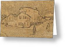 The Artists House In Arles Greeting Card by Vincent Van Gogh